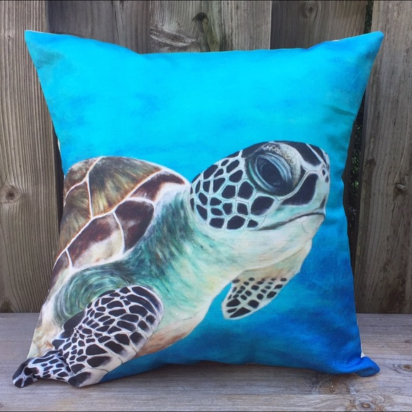 Handmade pillow, marine inspired, New